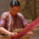 A woman weaving