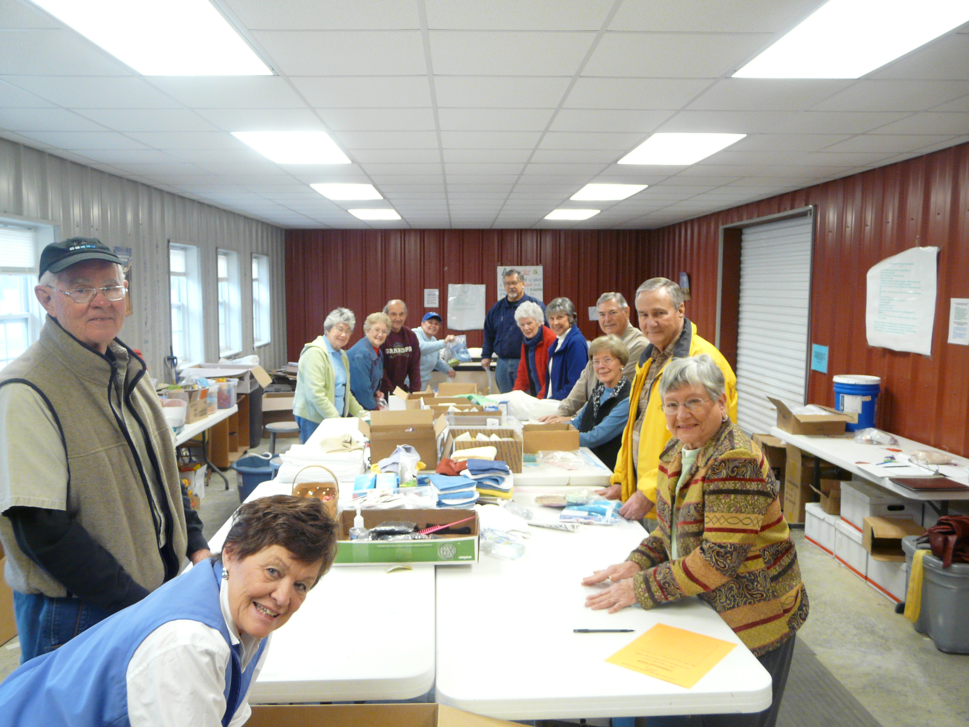 Volunteers at the Presbyterian Disaster Assistance Warehouse at Ferncliff