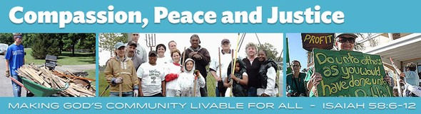 Compassion, Peace and Justice newsletter banner