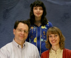 Photo of Paul Matheny and Mary Nebelsick with their daughter