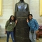 Sara Imani and Justin at the bust of MLK Jr. in the Capital Building