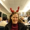 A lighter moment:  Marta as Rudolf at OMSC community dinner