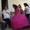 Quinceanera girls at the graduation celebration.