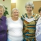 Left to rt. Audrey Swanson, Myra Stickle, Carolyn Weber, MaryJo Dennis at 1st PC-Galesburg mission interp