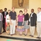 Partners from PC(USA) and Mekane Yesus Seminary tour MYS Chapel. L to r: Dean Teshome Amenu, Principal Dr. Belay Olam, the Rev. Dr. Carolyn Weber, the Rev. Dr. Michael Parker, the Rev. Debbie Braaksma