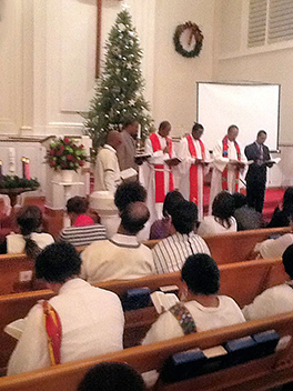 The installation of Rev. Gezahagn Erana as pastor of the Lancaster Oromo Fellowship Photo by Erin S. Cox-Holmes