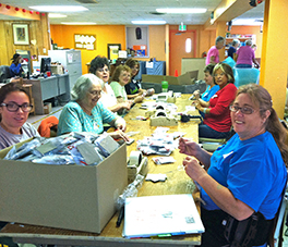 Redstone Presbyterian Women volunteers at the SERRV warehouse Courtesy of Sylvia Carlson