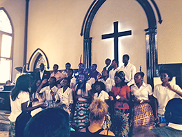 Angolan choir at First Presbyterian in Havana Photo by Christine Coy Fohr