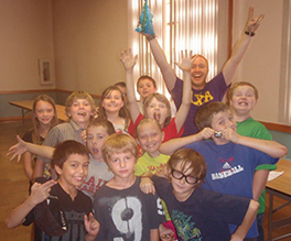 Park Presbyterian campers celebrate after a week of crafts and camp activities. Courtesy of Richard Simpson