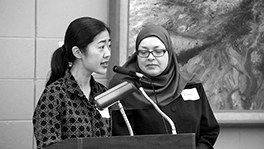 Rev. Joyce Chin, Fourth Presbyterian Church of Chicago, and Karen Danielson, Muslim American Society Courtesy of Shelley Donaldson