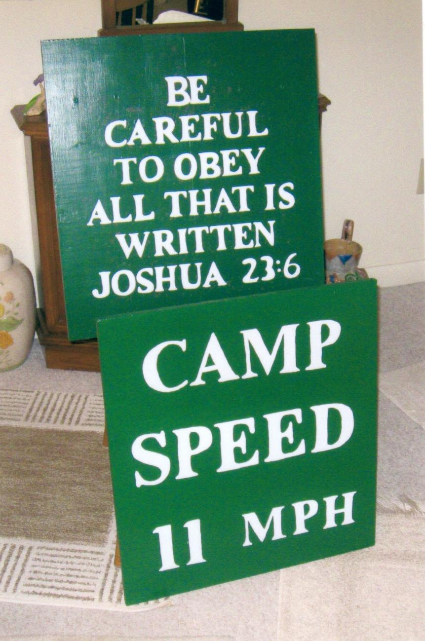 Holston Presbytery Camp road signs Photo by Betty Cox