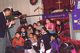 The children's corner (el rinconcito de los niños) at the Nueva Vida Hispanic Presbyterian NCD. Courtesy of Teddy Chuquimia