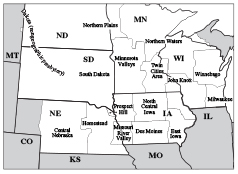 Map Synod of Lakes and Prairies