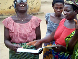 Togolese women learning to read Courtesy of Josh Heikkila