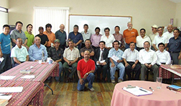 A group of male pastors who came to Guatemala City to learn a Christ-centered relational ethic Courtesy of Kevin E. Frederick