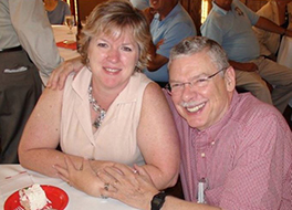 Ginny and Jeff Fisher enjoying social time with others at the memory cafe Courtesy of Ginny Fisher
