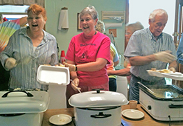 The free lunch at Belington Presbyterian Church is a joy!
