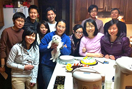 Howard and JoAnn with Taiwanese graduate students from three North Carolina universities Photo by John McCall