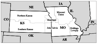 Synod of Mid-America map
