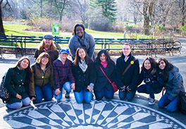 Agape young adults at the Strawberry Field Memorial in Central Park Photo by Geraldine J. Parker