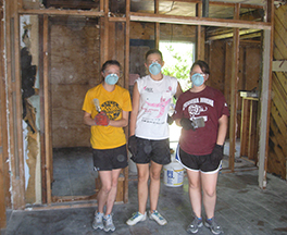 Mission team members at a worksite in Biloxi, Mississippi Photo by Amy Sabbert O'Brien