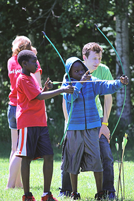 South Sudanese American youth campers at Camp Presbyterian Clearwater Forest Photo courtesy of Camp Presbyterian Clearwater Forest