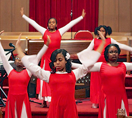 Bodies of Worship dance group at Elmwood United Presbyterian Church, East Orange Photo by Patrick Payne