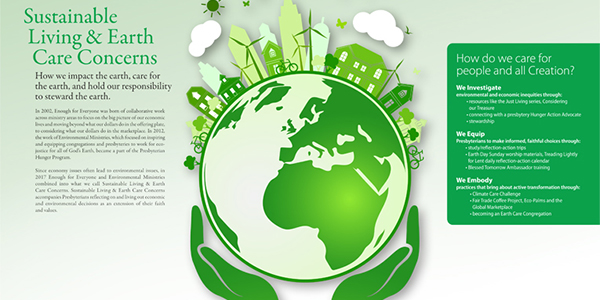 Sustainable Living and Earth Care Poster