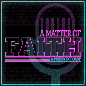 A matter of faith podcast logo