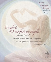 women with arms in heart shape; comfort o comfort scripture