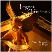 legacy christmas CD cover, nativity angel