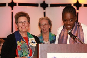 Carol Winkler and Sadekie Lyttle-Forbes during closing plenary