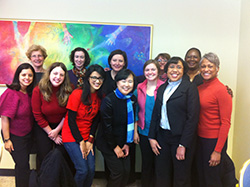Photo of several young women from the Racial Ethnic Young Women Together group