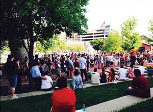 Vigil for Michael Brown at Indiana University Bloomington