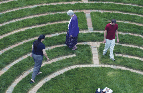 Louisville Seminary prayer labyrinth