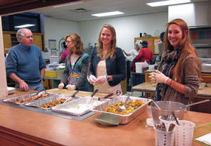 fall feast at poverty outreach house