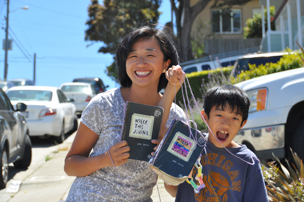 Theresa Cho and her son