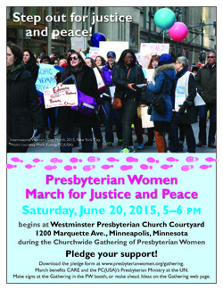 Flyer advertising march