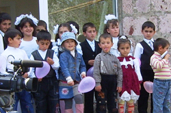 Photograph of a group of school children.