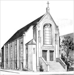 Drawing of a church