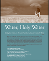 cover of Water, Holy Water resource for Earth Day Sunday 2014