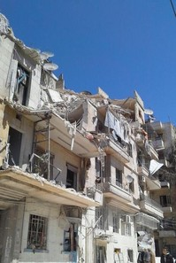 bombed housing in Aleppo