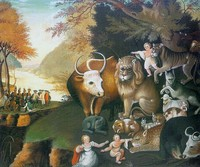 painting of peaceable kingdom by edward hicks