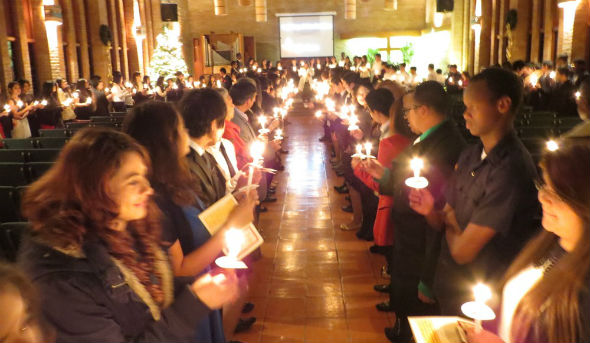 Presbyterian Pan American School Candle Light Service, Easter 2015